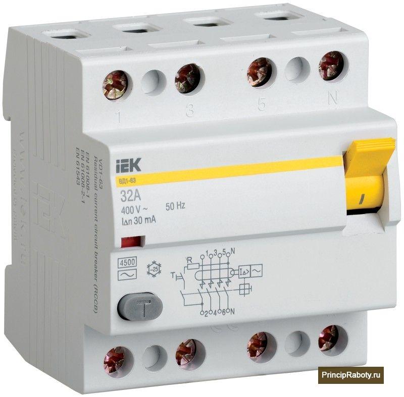 Дифференциальный автомат IEK ВД1-63